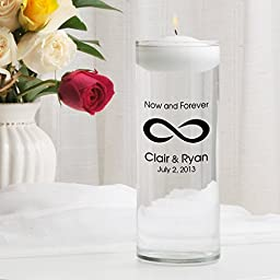 Personalized Floating Wedding Unity Candle- Now and Forever