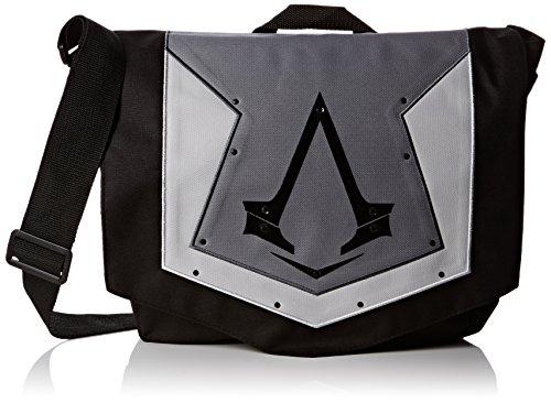 Assassin's Creed - Borsa a tracolla con logo, Grigio