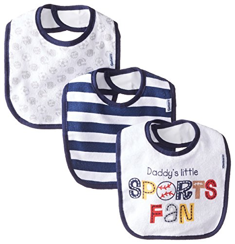Gerber Baby-Boys Newborn 3 Pack Terry Bib Sports, Blue, One Size