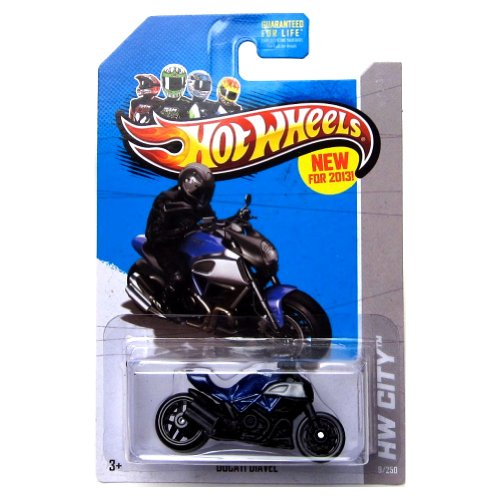 Hot Wheels 2013 Ducati Diavel Blue HW City 9/250 - 1