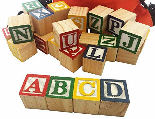 Stacking Abc Letter Colors Wooden Blocks Fo... Educational Devoted Skoolzy 30 Wood Alphabet Blocks Blocks, Tiles & Mats