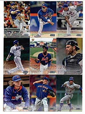 2015 Topps Stadium Club Baseball Cards New York Mets Team Set (13 Cards) Including Curtis Granderson, David Wright, Daniel Murphy, Lucas Duda