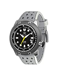 Glam Rock Men's GR20004 Miami Collection Stainless Steel and Titanium Gray Rubber Watch