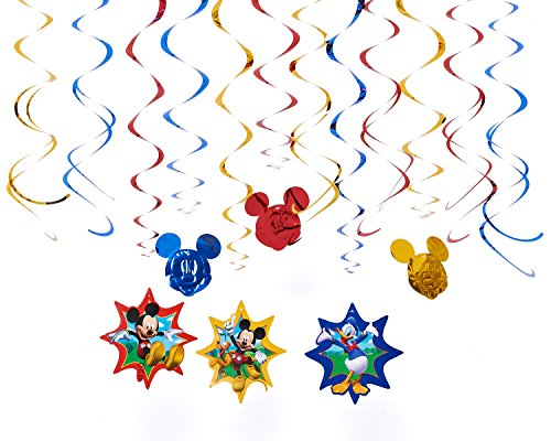 American Greetings Mickey Mouse Clubhouse Hanging Party Decorations, Party Supplies (Mickey Mouse Theme Party Supplies compare prices)