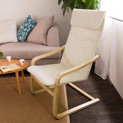 SoBuy® Poltrona oscillante, poltrona riposo, sedia relax, molleggiante FST17-W (Bianco)