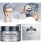 Fanmin Silver Grey Hair Wax 4.23 oz, Washed Silver Ash Hair Wax, Natural Matte Hairstyle Hair For Party, Cosplay