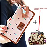 Vovotrade(TM) Hot Sale!! Elegant Lady Women Long Purse Clutch Wallet Zip Bag Card Holder (pink)