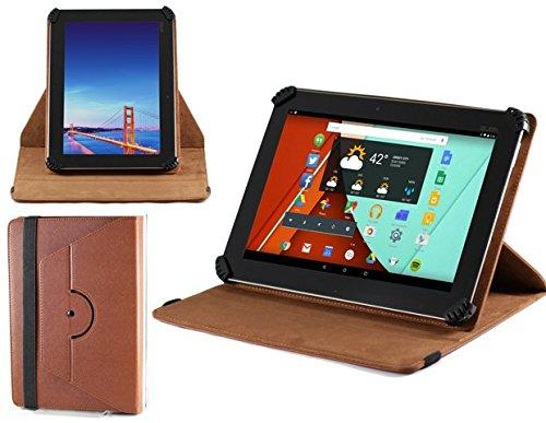 Navitech braunes bycast Leder Case / Cover 360 Grad rotierbar für das Samsung Galaxy Tab 3 10.1/2 10.1 /Note 10.1