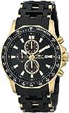 Invicta Men's 1931 Sea Spider Chronograph Black Dial Black Polyurethane Watch