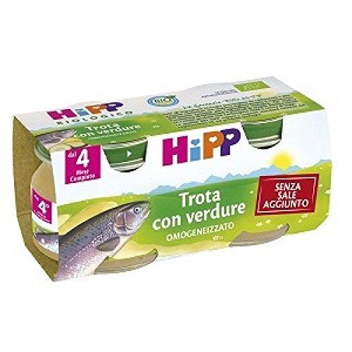 Hipp Omogeneizzato Biologico Trota Con Verdure 2x80g