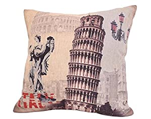 OneHouse Leaning Tower of Pisa Italy Cushion Covers Pillowslip