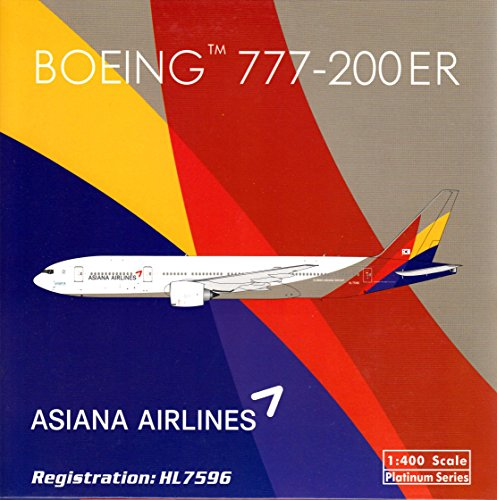 PHX1534 1:400 Phoenix Model Asiana Airlines Boeing 777-200ER REG#HL7596 (pre-painted/pre-built) (Phoenix Models compare prices)
