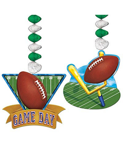 Game Day Football Danglers Party Accessory (1 count) (2/Pkg)