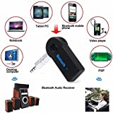 Bluetooth HandsFree Car Kit Bluetooth Music Receiver Adapter With Built-in Mic And 3.5mm Aux Output For Car Audio...