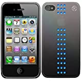 Bling My Thing iPhone 4S/4 METALLIC MIRROR Stripe Capri Blue
