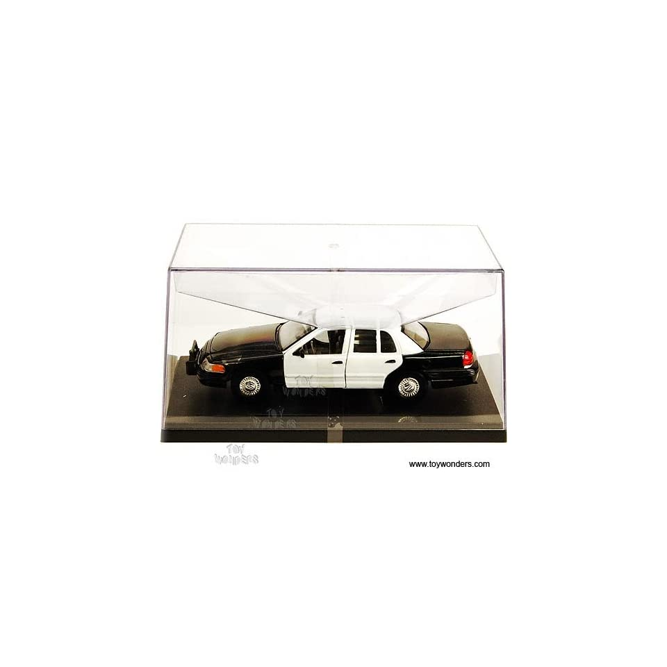 Sh22082wb Welly   Ford Crown Victoria Police Car   No Decal (124, Black & White) Sh22082wb Diecast Car Model Auto Vehicle Automobile Metal Iron Toy