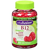 Vitafusion Energy B12 Gummy Vitamins, Very Raspberry 500mcg, 250 Count