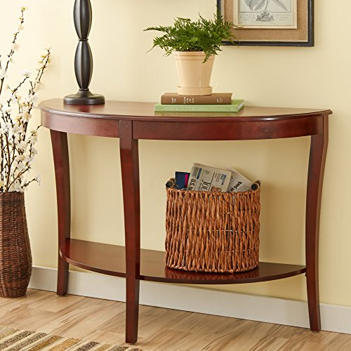 Andover Mills Pierce Durable Stylish Console Table with Rich Cherry Finish (Pierce Console Table compare prices)
