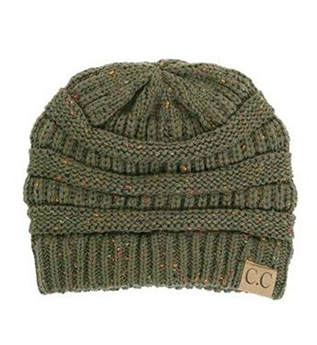 C.C. Exclusives Cable Knit Beanie in Speckled Olive (One Size, Olive/Green) (Champion C Caps compare prices)
