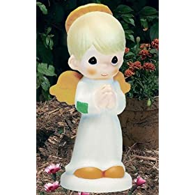 Beautiful Front. Precious Moments Lighted Angel Garden Statuary: ...