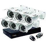 Puffin 8-Channel Dvr, 6(PF-6C833) 1000TVL Bullet CCTV Cameras