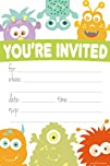 Monster Themed Party Invitations – Fi…