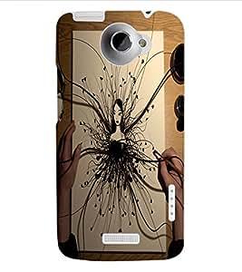 ColourCraft Creative Art Design Back Case Cover for HTC ONE X