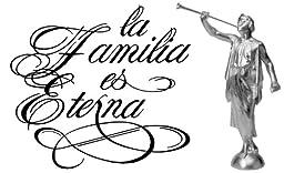 LDS Plastic Spanish Families Are Forever Temple Recommend Holder - Chad Hawkins Art - La Familia es Eterna