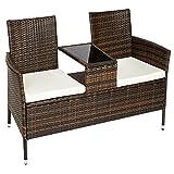 TecTake-Sitzbank-mit-Tisch-Poly-Rattan-Gartenbank-Gartensofa-inkl-Sitzkissen-schwarz-braun