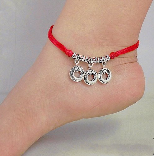 Tibetan Silver Sterling Silver Bangle Anklet Chain Bracelet Jewellery Quality Style NO.3019