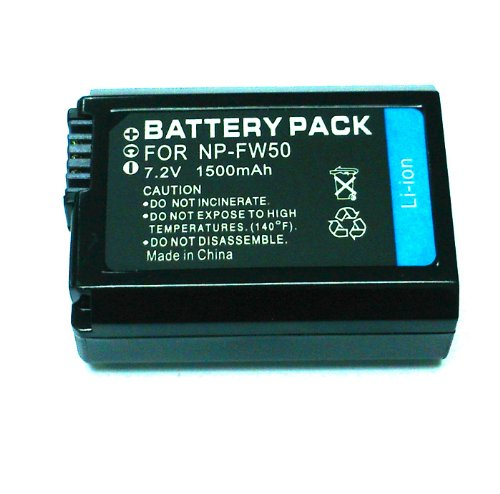Qualitäts akku 1080 mah für fur für Sony NP-FW50 Ersatzakku für Sony NP-FW50 passend zu Sony A6000 A5000 Alpha 7 CyberShot DSC RX10 -- Sony NEX-6 NEX-F3 NEX-7 NEX-7B NEX-7C NEX-7K NEX-3 NEX-3N NEX-C3 Nex-5 NEX-5N NEX-5K NEX-5R SLT A55 A33 A35 A37 A3000