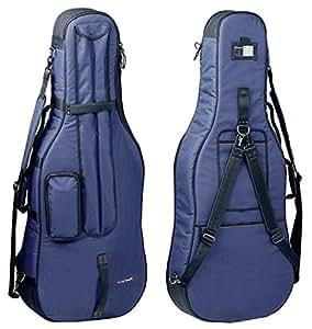 Housse violoncelle prestige 4 4 bleu bienvenue for Housse violoncelle
