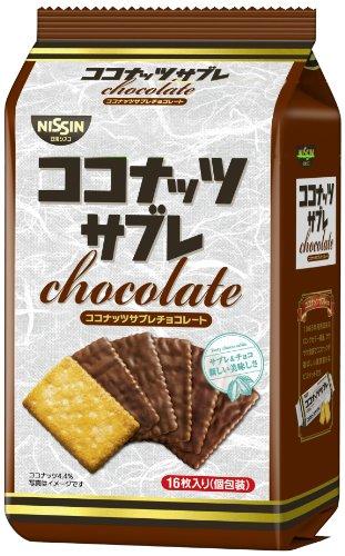 日清シスコ ココナッツサブレ チョコレート 16枚×6袋