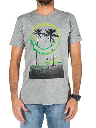 T-Shirt Men Rip Curl Palm Smile T-Shirt