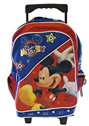 "Disney Mickey Mouse 15"" Large Rolling Backpack - Cheers"