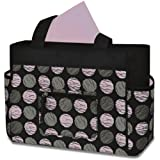 Baby Essentials Fashion Diaper Tote Bag, Swirl Dot