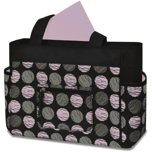 Baby Essentials Fashion Diaper Tote Bag, Swirl Dot - 1