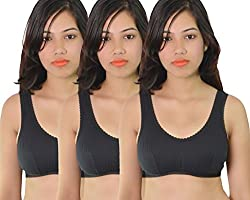 Vimal Black Sport Bra For Women ( Pack Of 3)