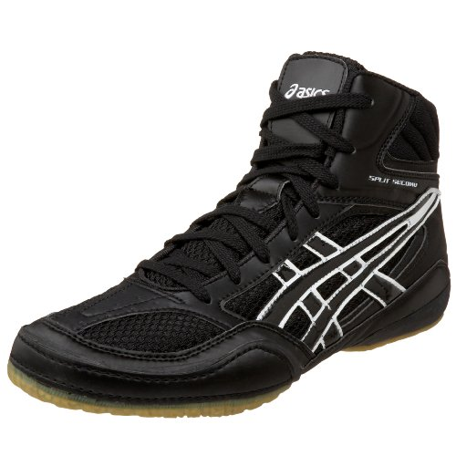 Asics Men'S Split Second Wide Wrestling Shoe,Black/White,13 W Us