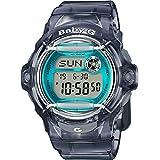 Casio Baby-G BG169R-8B Face Protector Ion-Plated Metal Grey Blue Watch Digital
