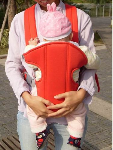 Z&G Bambino spalle sgabello vita estate V - tracolla regolabile / mesh traspirante , red ( small number )