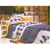 Laura Classic Multicolour Double Bedsheet In Poly Cotton Material With Two Pillow Covers.