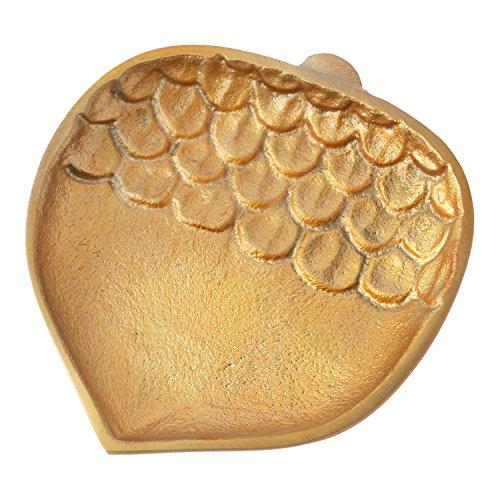 Hallmark Home Fall Decorative Gold Metal Acorn Plate, Small (Polish Decorative Plates compare prices)