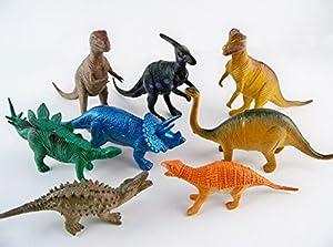 XT-XINTE Statische Modell Spielzeug Dinosaurier Umweltschutz Kunststoff überzogen 8 Stück Dinosaurier Anime Taschen