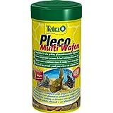 Tetra 189652 Pleco Multi Wafers, Hauptfutter für alle großen Pflanzen fressenden Bodenfische mit Omega 3 und Algenkonzentrat, 250 ml