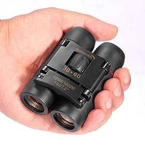 Aurosports 30x60 Folding Bionocular Telescope with Night Vision - Style Random l for outdoor birding, travelling, sightseeing, hunting, etc