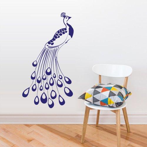 Wall Vinyl Sticker Decals Decor Art Bedroom Design Mural Peacock Bird (Z3019) front-1069515