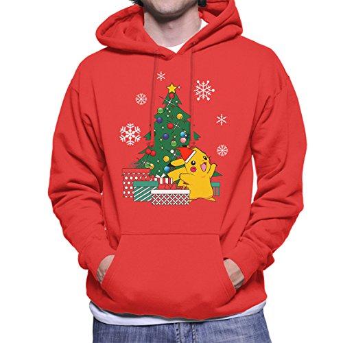 Pikachu-Pokemon-Christmas-Tree-Mens-Hooded-Sweatshirt