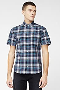 L!VE Short Sleeve Plaid Woven Shirt