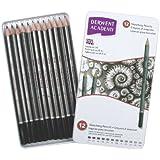 Derwent Academy Sketching Pencils Tin 6B-5H (Set of 12)